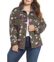plus size women's levi's high/low shirt jacket