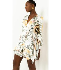 akira back in business floral mini dress