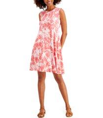 style & co petite sleeveless printed sheath dress, created for macy's