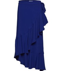 rodebjer hazel twill knälång kjol blå rodebjer