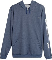 buzo hoodie work out color azul, talla l
