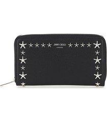 jimmy choo pippa zip around wallet star studs
