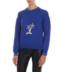 giada benincasa - palm embroidery sweater