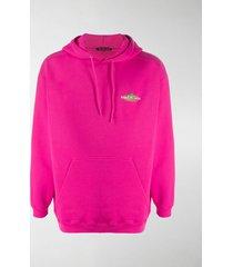 balenciaga bonjour logo patch hoodie