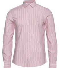 bold stripe slim shirt skjorta casual orange calvin klein