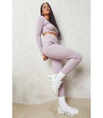 premium geribbelde legging, pale pink