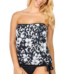 island escape blouson tankini, created for macy's women's swimsuit