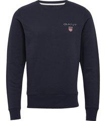 d1. medium shield c-neck sweat sweat-shirt trui blauw gant