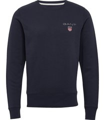 d1. medium shield c-neck sweat sweat-shirt trui blauw gant
