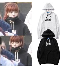 kpop blackpink hoodie lisa pullover whistle sweatershirt jisoo jennie rose