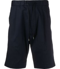 boss straight-leg bermuda shorts - blue
