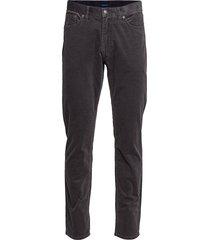 d1. slim cord jeans chino broek zwart gant