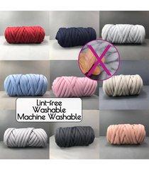 500g chunky hilado diy hace punto de punto manta suave línea gruesa de algodón banda de ganchillo - negro