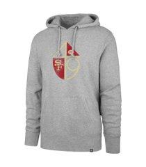 '47 brand san francisco 49ers men's throwback headline hoodie
