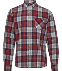 checked l/s shirt overhemd casual rood lindbergh