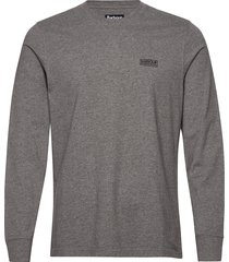 b.intl l/s logo tee t-shirts long-sleeved grå barbour