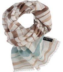 women's water stripe scarf