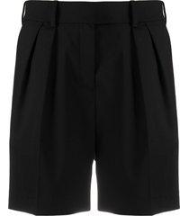 alexandre vauthier pleat detail tailored shorts - black