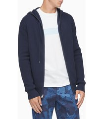 sueter textured hoodie full zipper - calvin klein