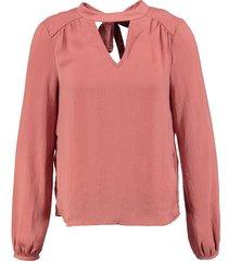 vero moda lichtglanzende polyester blouse old rose