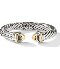 david yurman cable classics bracelet, size small in gold/silver/gold dome at nordstrom