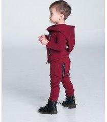 spodnie zip bordo