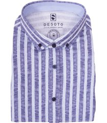 desoto shirt casual blauw gestreept