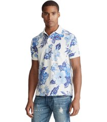 polo ralph lauren men's custom slim fit tropical print polo shirt