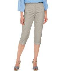 karen scott petite comfort-waist capri pants, created for macy's
