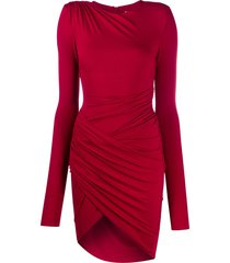 alexandre vauthier draped stretch-jersey mini dress - red