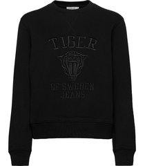 riane emb sweat-shirt trui zwart tiger of sweden jeans
