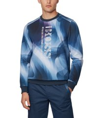 boss men's salbo iconic slim-fit sweatshirt