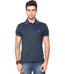camisa polo piquet tony menswear sofistc azul-marinho