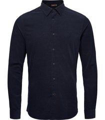 cedrik button under shirt skjorta business blå morris