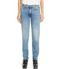 women's r13 axl high waist slim jeans, size 25 - blue