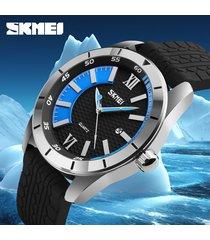 reloj de cuarzo informal para hombres de negocios-azul