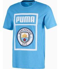 essentials t-shirt met korte mouwen voor heren, blauw/wit, maat l | puma