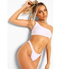 essentials tanga bikini broekje met dikke taille band, wit
