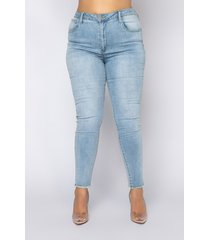 akira plus size all over back lace skinny jeans