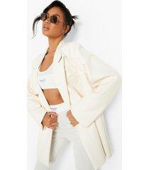 oversized pu blazer, off white