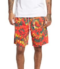 men's nike men's throwback tie dye performance fleece shorts