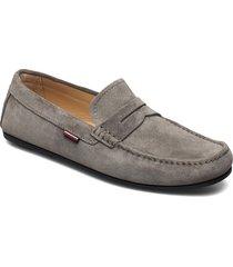 classic suede penny loafer loafers låga skor grå tommy hilfiger