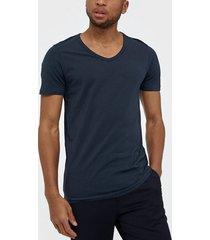 jack & jones jjebasic v-neck tee s/s noos t-shirts & linnen blå