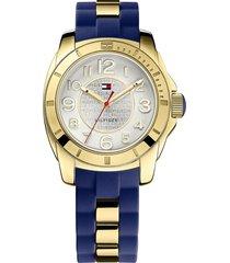 reloj tommy hilfiger 1781307 azul-dorado -superbrands