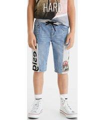 plush denim short trousers - blue - 11/12