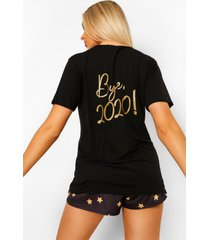 bye 2020 pyjama set met shorts, black