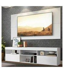 """rack com painel e suporte para tv até 65"""" flórida multimóveis branco"""