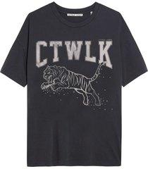 catwalk junkie t-shirt jumping tiger dark grey