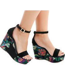 sandalias adulto marketing personal  para mujer -negro