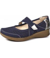 zapato mujer azul amina begoña